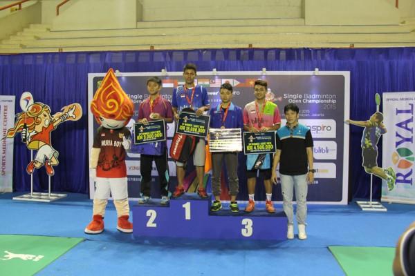 Flypower Single Badminton Open Championship 2015 Winner
