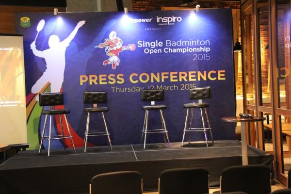 Press Conference Flypower Single Badminton Open 2015