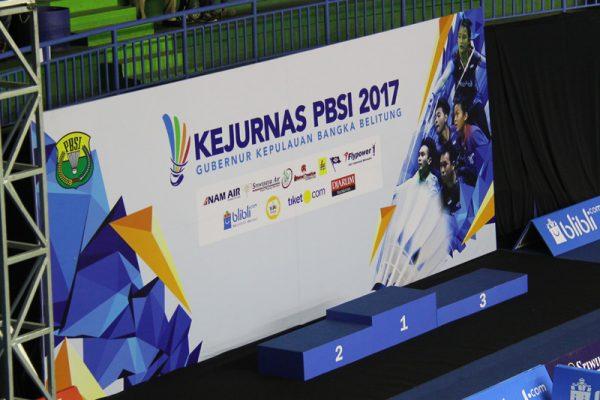 Kejurnas PBSI 2017 Gubernur Kepulauan Bangka Belitung