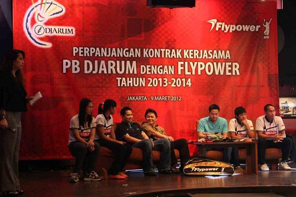 Kerjasama Flypower Dengan PB Djarum 2013-2014