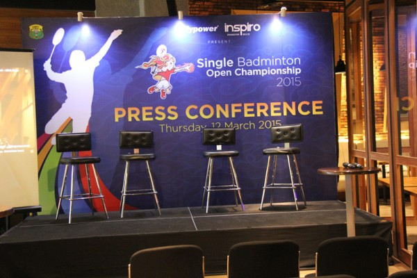 Press Conference Flypower Single Badminton Open 2015